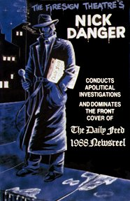 88 Newsreel Cover Art: Nick Danger on a street corner
