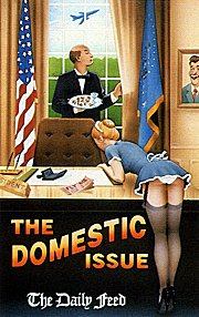 91 Newsreel Cover Art: Whitehousekeeping does so in the Oval Office